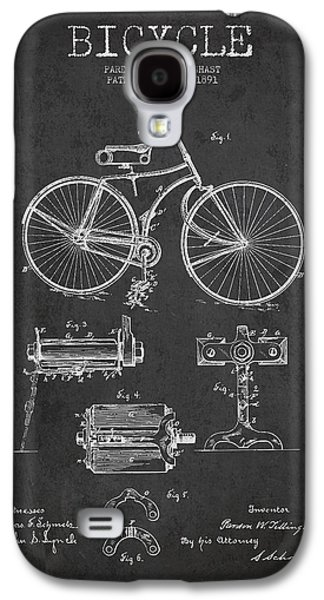Bicycle Galaxy S4 Case - Bicycle Patent Drawing From 1891 by Aged Pixel