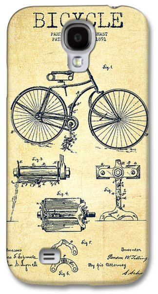 Bicycle Patent Drawing From 1891 - Vintage Galaxy S4 Case by Aged Pixel