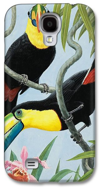 Big-beaked Birds Galaxy S4 Case by RB Davis