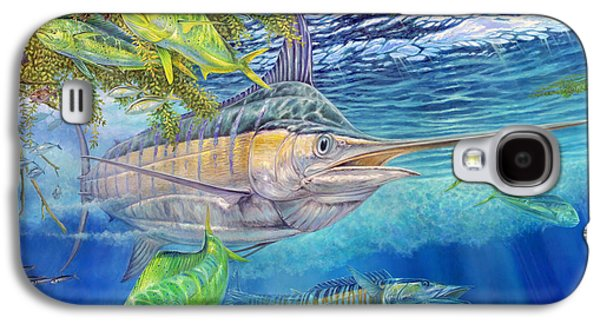 Big Blue Hunting In The Weeds Galaxy S4 Case by Terry  Fox