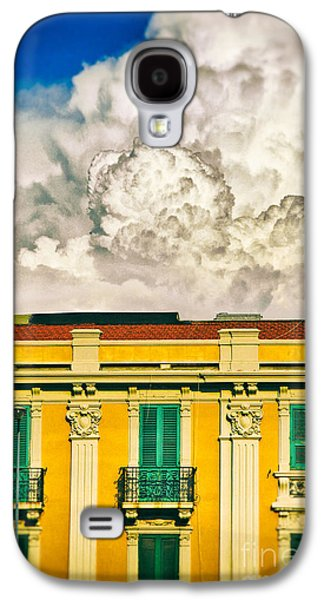 Galaxy S4 Case featuring the photograph Big Cloud Over City Building by Silvia Ganora