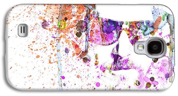 Big Lebowski Watercolor 1 Galaxy S4 Case by Naxart Studio
