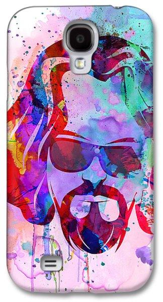 Big Lebowski Watercolor Galaxy S4 Case by Naxart Studio
