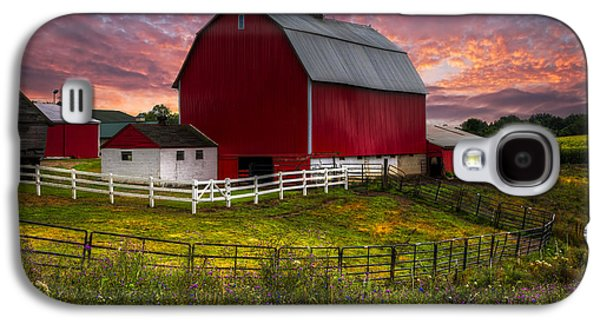 Big Red At Sunset Galaxy S4 Case by Debra and Dave Vanderlaan