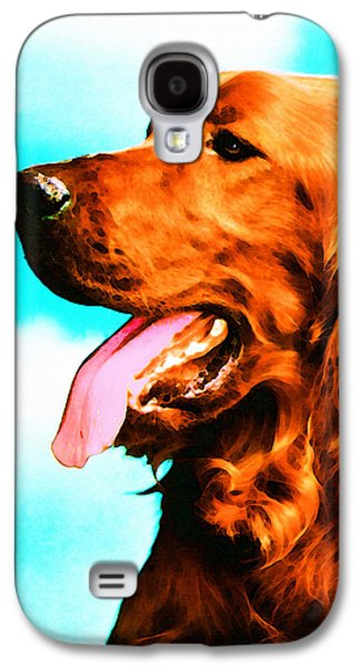 Big Red - Irish Setter Dog Art By Sharon Cummings Galaxy S4 Case by Sharon Cummings