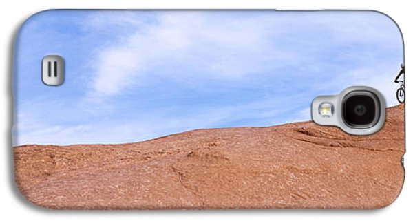 Biker On Slickrock Trail, Moab, Grand Galaxy S4 Case by Panoramic Images