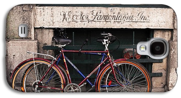 Bikes In Old Montreal Galaxy S4 Case by John Rizzuto