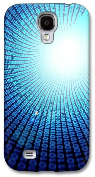 Binary Code Galaxy S4 Case by Sebastian Kaulitzki