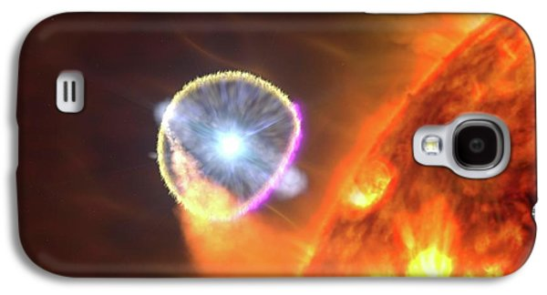 Binary Star System Nova Galaxy S4 Case by Nasa's Goddard Space Flight Center/s. Wiessinger