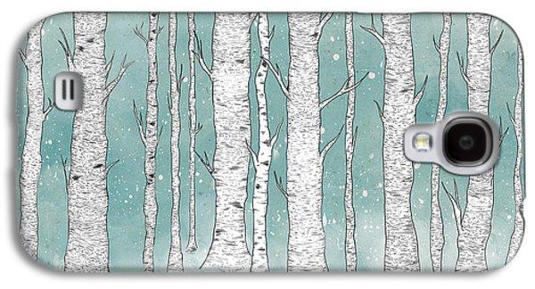 Birch Forest Galaxy S4 Case by Randoms Print