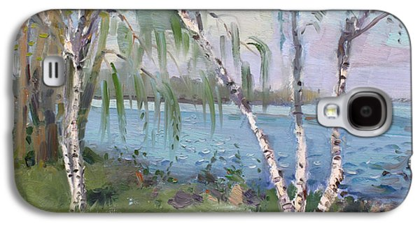 Birch Trees By The River Galaxy S4 Case