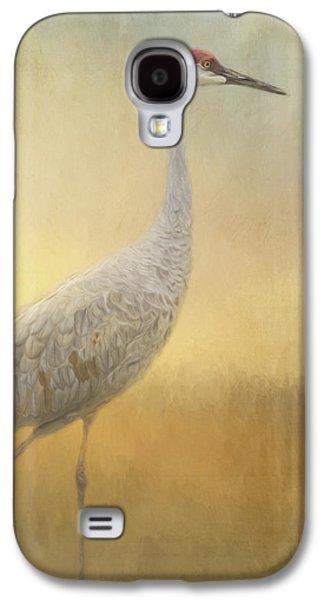 Bird Art - Walking Away Galaxy S4 Case by Jordan Blackstone