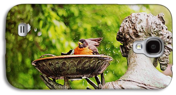 Bird Bath Fountain Galaxy S4 Case by Jessica Jenney