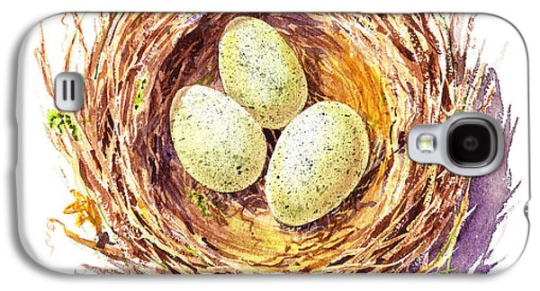 Bird Nest A Happy Trio Galaxy S4 Case
