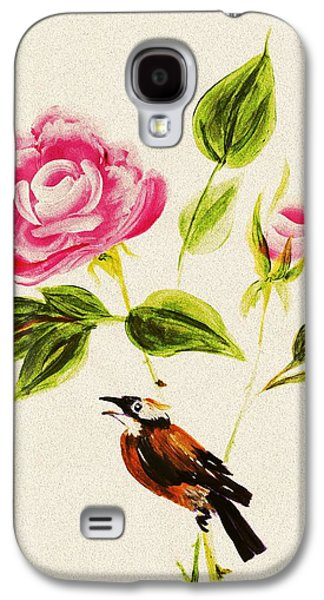 Bird On A Flower Galaxy S4 Case