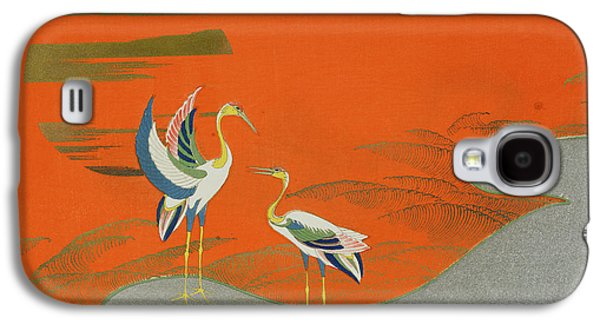 Birds At Sunset On The Lake Galaxy S4 Case