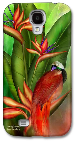 Birds Of Paradise Galaxy S4 Case by Carol Cavalaris