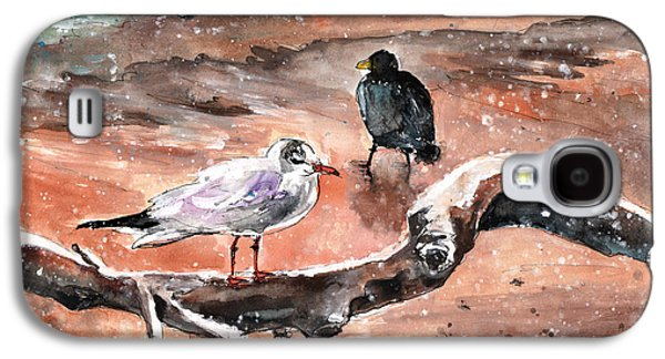 Birds On The Constance Lake In Winter Galaxy S4 Case by Miki De Goodaboom