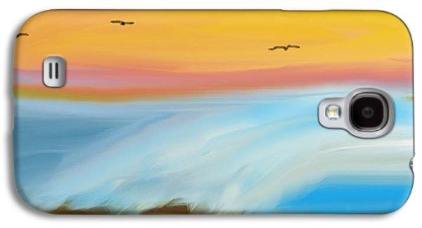 Birds Over The Ocean Galaxy S4 Case by Constance Carlsen