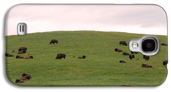 Bison Herd Galaxy S4 Case by Olivier Le Queinec