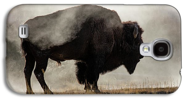 Bison In Mist, Upper Geyser Basin Galaxy S4 Case