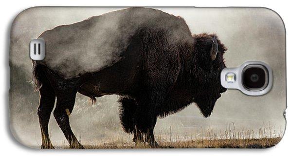 Buffalo Galaxy S4 Case - Bison In Mist, Upper Geyser Basin by Adam Jones