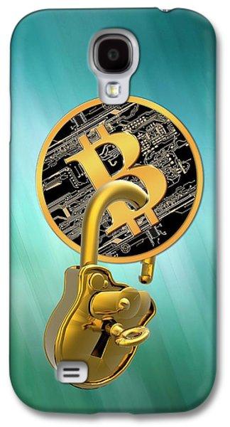 Bitcoin And Padlock Galaxy S4 Case