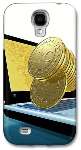 Bitcoins And A Laptop Galaxy S4 Case