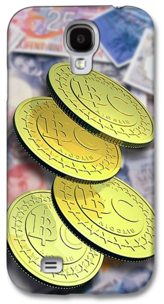 Bitcoins And Banknotes Galaxy S4 Case