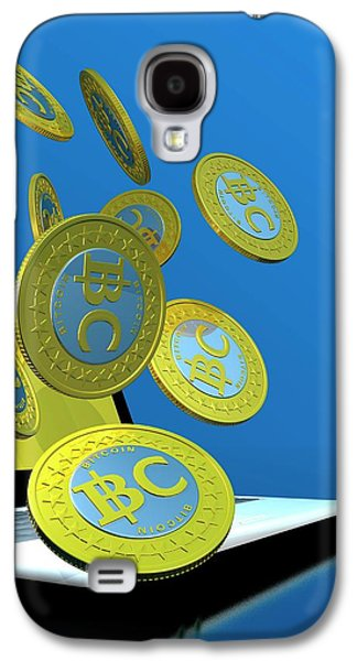 Bitcoins And Laptop Galaxy S4 Case