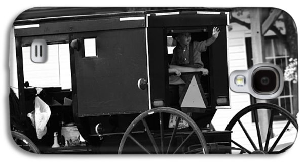 Black And White Amish Buggy Galaxy S4 Case by Dan Sproul