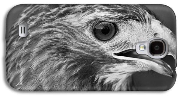 Black And White Hawk Portrait Galaxy S4 Case by Dan Sproul