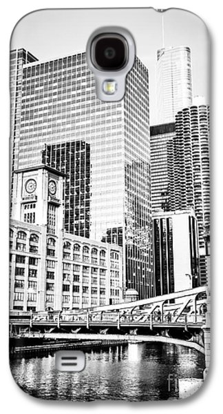 Black And White Picture Of Chicago At Lasalle Bridge Galaxy S4 Case by Paul Velgos