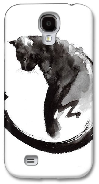 Cat Galaxy S4 Case - Black Cat by Mariusz Szmerdt