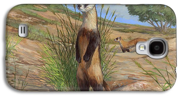 Black-footed Ferret Galaxy S4 Case by ACE Coinage painting by Michael Rothman