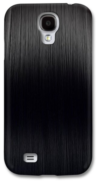 Black Hair Perfect Straight Galaxy S4 Case by Allan Swart
