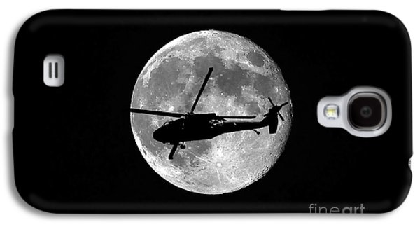 Helicopter Galaxy S4 Case - Black Hawk Moon by Al Powell Photography USA