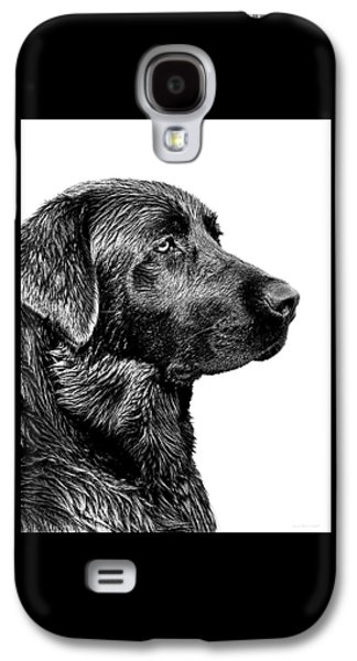 Black Labrador Retriever Dog Monochrome Galaxy S4 Case