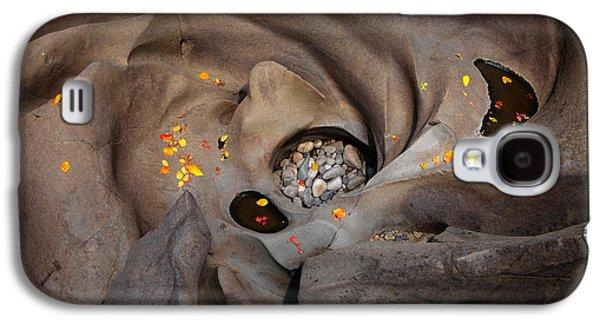 Black Magic Canyon Swirl Galaxy S4 Case by Leland D Howard