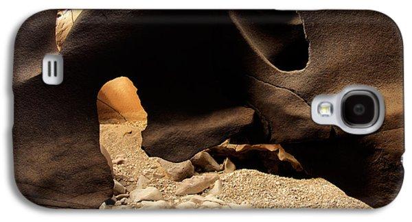Black Magic Canyon Texture Galaxy S4 Case