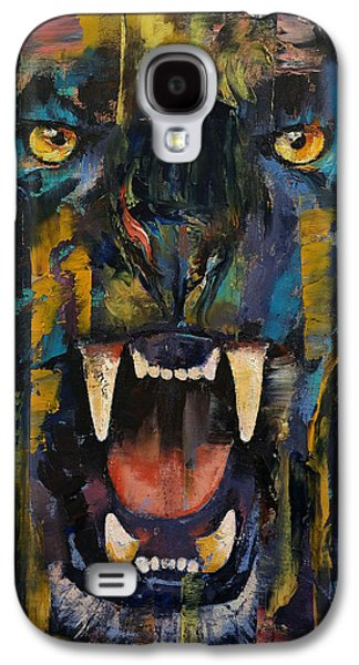 Black Panther Galaxy S4 Case by Michael Creese