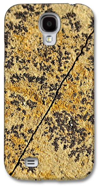 Black Patterns On The Sandstone Galaxy S4 Case