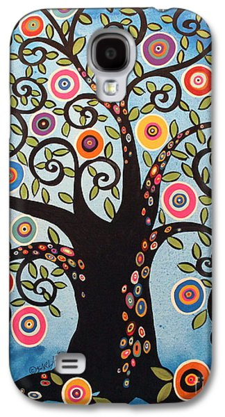 Black Swirl Tree Galaxy S4 Case by Karla Gerard