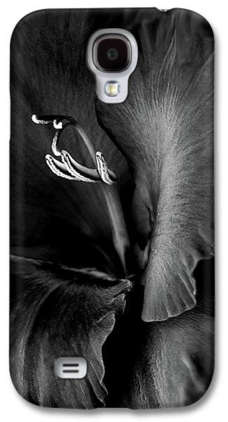 Black Velvet Gladiolia Flower Galaxy S4 Case