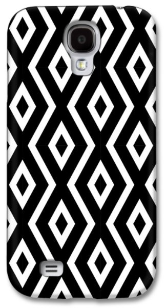 Beach Galaxy S4 Case - Black And White Pattern by Christina Rollo