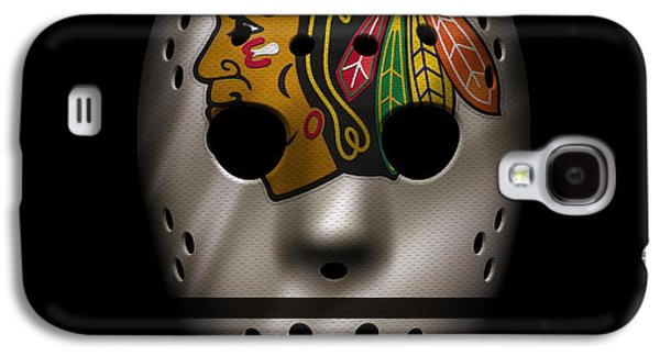 Blackhawks Jersey Mask Galaxy S4 Case by Joe Hamilton