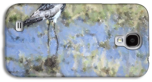 Blacksmith Lapwing Or Plover Vanellus Armatus Galaxy S4 Case by Liz Leyden