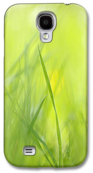 Blades Of Grass - Green Spring Meadow - Abstract Soft Blurred Galaxy S4 Case by Matthias Hauser