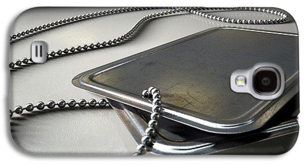 Blank Identity Dog Tags Dramatic Galaxy S4 Case