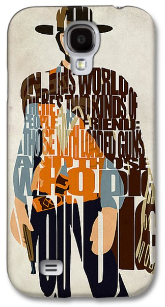 Blondie Poster From The Good The Bad And The Ugly Galaxy S4 Case by Ayse Deniz